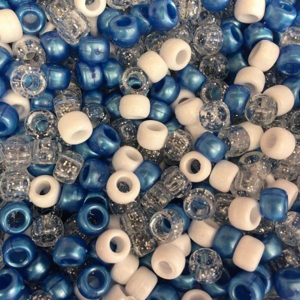 Bright Blue white glitter mix