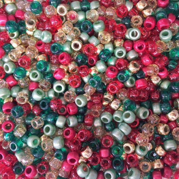 100 x Perle Mix Barrel Shape poney perles 9x6mm